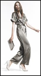 J by Jasper Conran silk jumpsuit �80/�124, mock croc clutch �25/�39 from Debenhams Spring/Summer 2009 Womenswear