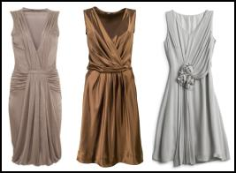 Goddess draped dresses from Wallis, Marks & Spencer and Hobbs - Summer 2009 Fashion Dresses