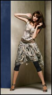 Principles Spring Summer 2009 - Grey printed hook up skirt dress �75.00/ �115 Grey multi strand waist belt �32.00/�49 Pewter peep toe shoe