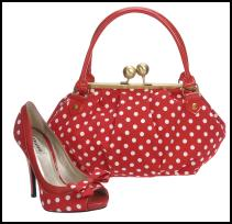 Dune - Lotty red and white spot shoes �85 and Motty red and white spotted handbag, �45 - Spring/Summer 2009 - Ladies & Accessories both Dune.