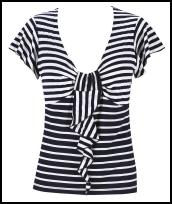 Per Una Spring Summer 2009 - Nautical stripe Top �23 from Marks & Spencer.