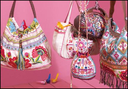 Folkloric and One-world tribal decorated bags from Accessorize SS2009