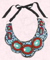 Turquoise tribal decoration Navajo embellished collar �40 from Freedom at Topshop
