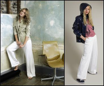 Phase Eight - Kay Linen Jacket �75.00 and White Linen Trousers �50.00.