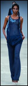 Aquascutum blue trousers and long tunic top - Spring 2009