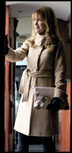 Petite Camel Coat Tie Waist Winter Trench Coat