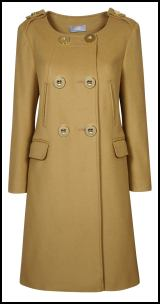 Camel Collarless Coat - Wallis