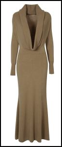 Wallis Camel Long Sleeve Winter Maxi Dress