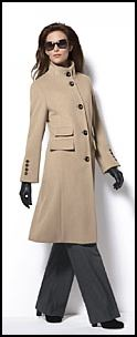Camel Coat by El�gance in Wool and Angora