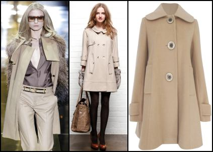 Camel Coats - Gucci Coat, Warehouse Coat, Savida Coat.