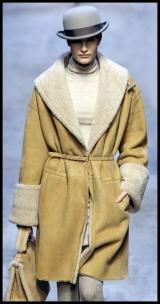 Camel Shearling Coat & Bag - Hermes AW10