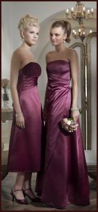 BHS Wedding SS10 Bridesmaid in Merlot Colour Dress