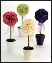 Confetti.co.uk have all your colour coordinated wedding and party occasion needs such as these table decorations.