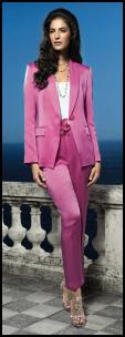 El�gance Pink Trouser Suit - Occasion and Wedding Dressing.