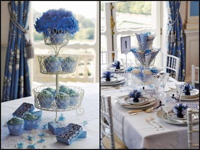 Confetti UK Blue Colour Table Schemes - Themed Weddings