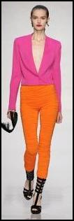 Ungaro Catwalk SS2010 Bold Brights - Pink/Orange.
