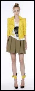 Ungaro Catwalk Cropped Yellow Jacket.