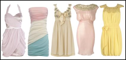 Dresses - Sweetshop pastels, candy floss, sugar fondant, sorbet ice and cupcake colours, are all part of the new pretty.