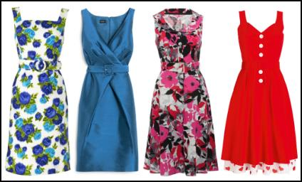Phase Eight Spring/Summer 2010 Bella Floral Dress �99. Hobbs Vaudeville dress, �159 - Hobbs Spring Summer 2010 Clothing. M&Co Floral 50s Style Red Black Floral Print Sleeveless Wide Collar Dress �40. Very.co.uk - Jasmine Guinness Heart Lined 50's Red Dress - �49.