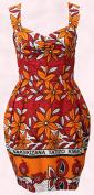 ASOS.com Africa Collection. Batik fabric print style orange and red tribal print summer dress.