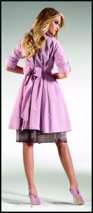 Gerry Weber pastel mauve orchid trench coat. Latest trends in fashion 2010