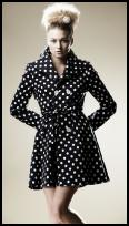 Retro Sweetheart S/S 10 Monochrome Spot Coat at boohoo.com.