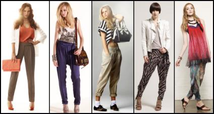 SS2010 - Narrower Pant Styles with Added Volume....