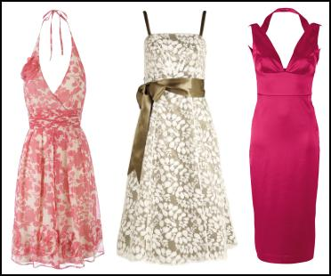 Corsage Pink/Ivory Halter Neck Dress �50 from Oli. BHS Mocha/Cream Lace Dress. Pink Bodycon Holly Dress.