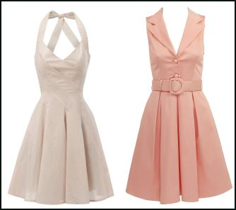 Jane Norman Spring Summer 2010 - Premium Collection - Tulip Bodice Halterneck Dress �45.  Pale Pink Dress from �24.99 and from a selection at TKMaxx.