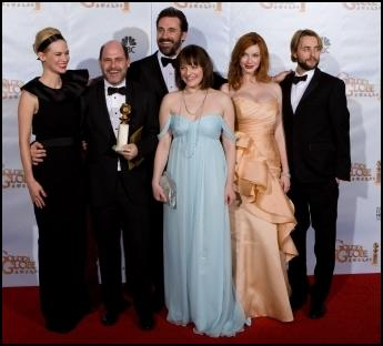 Mad Men cast photo right, courtesy the 67th Golden Globe Awards � HFPA -2010.