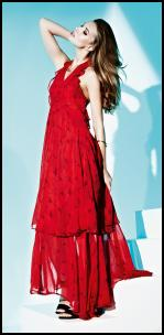 Dorothy Perkins Frill Halter Printed Maxi Red Dress - SS 2010.