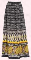 Yellow Black Border Print Maxi Skirt �35.