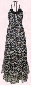 Neutral Animal Print Halter Neck Long Maxi Dress. Miss Selfridge 2010 - Gossip Girl - Vanessa Leopard Maxi Dress �59.