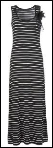 Black Stripe Corsage Maxi Dress �25 Oli Clothing.