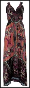 Multi Coloured Paisley Print Maxi Dress �35 - Oli Clothing 2010.