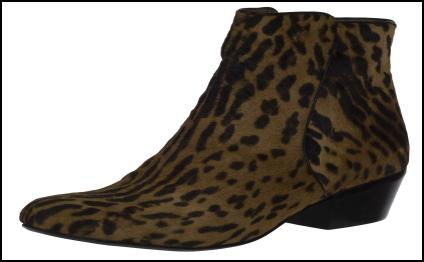 Bertie Animal Print Chelsea Ankle Boot.