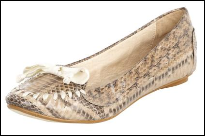 Snake Print Loafer Flat Shoe for AW11/12