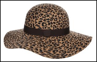 Animal Print Leopard Hat for AW11/12