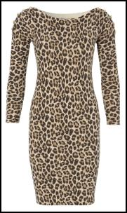 Petite Jane Seymour Wearing Animal Print Knit Dress From CC