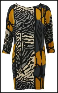 Abstract Digi-Print Zebra Dress