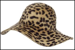 Animal Print Hat for AW11/12