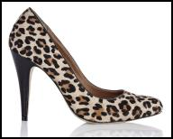 Animal Print Court Shoe High Heels