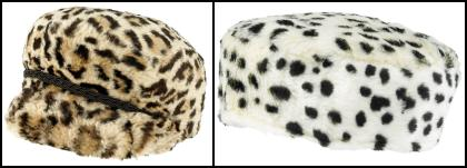 Animal Print Fur Baker Boy Sixties Hat