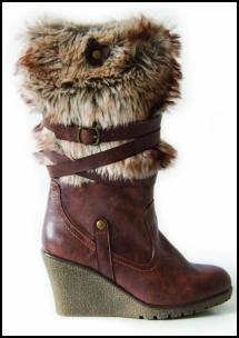 Wedge Boot Fur Cuff for AW11/12