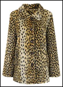 Miss Selfridge Faux Fur Leopard Print Coat