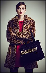 Fake Fur Leopard Print Coat.