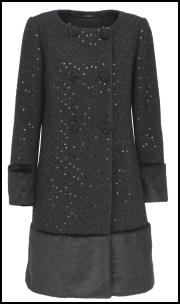 Per Una Luily Sequin Coat.