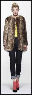 Fake Fur Leopard Print Coat