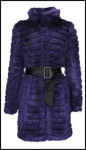 Star by Julien MacDonald Glam Faux Fur Purple Coat.