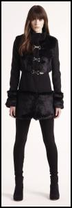 Fur Hem Mini Coat.